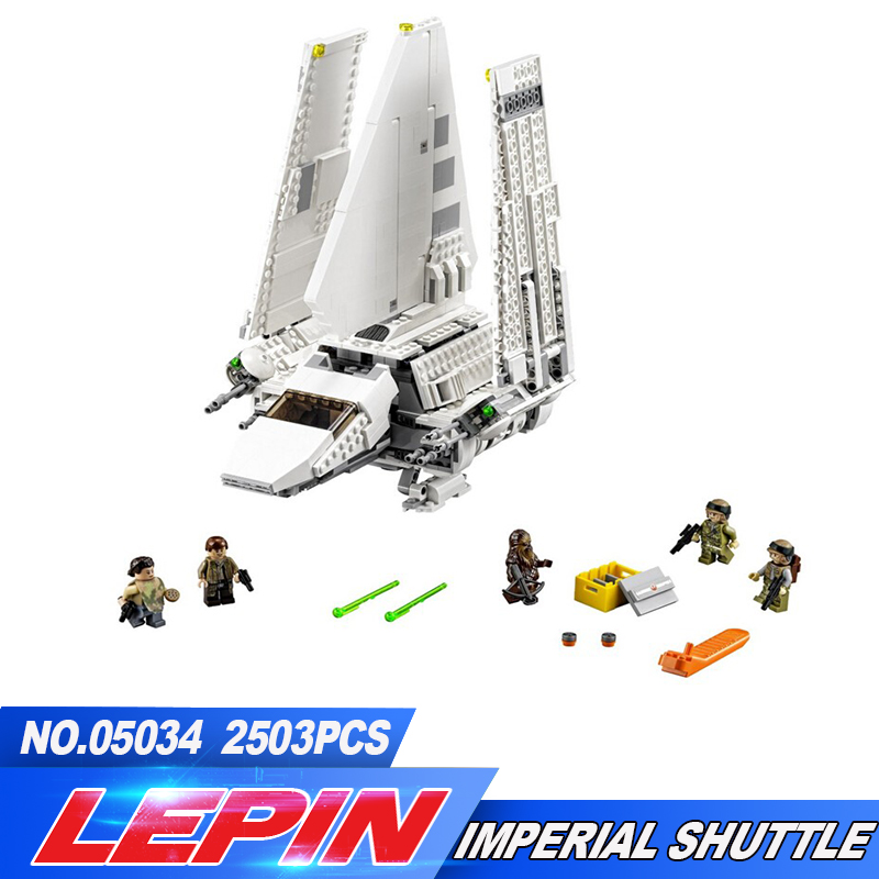 New LEPIN 05034 2503Pcs Star Wars Imperial Shuttle Model Building Kit Blocks Bricks Compatible Children Toy Gift With 10212 lepin 22001 pirate ship imperial warships model building block briks toys gift 1717pcs compatible legoed 10210