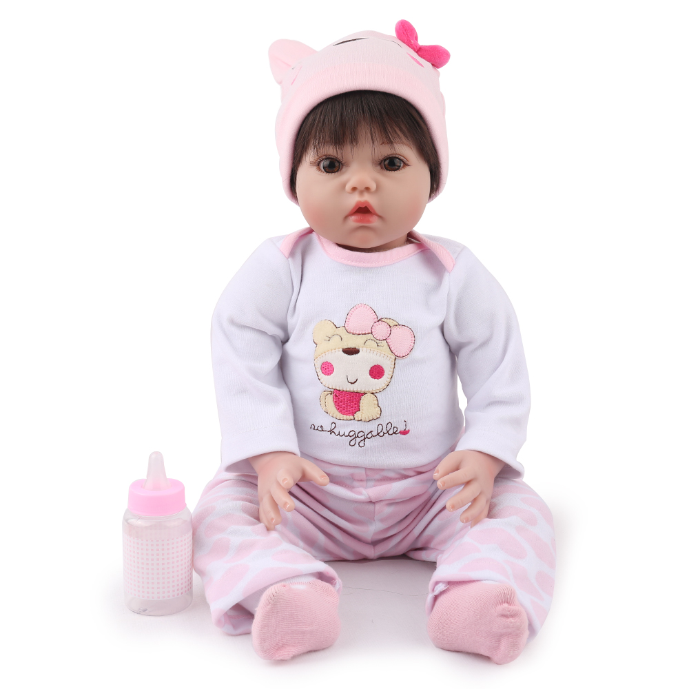 Reborn Baby Doll 22 inch Lucy Soft Silicone Hair wigs Lovely Kids Playmate Dollhouse Accessories 55 cm girl dolls Toys  NPKDOLL Reborn Baby Doll 22 inch Lucy Soft Silicone Hair wigs Lovely Kids Playmate Dollhouse Accessories 55 cm girl dolls Toys  NPKDOLL