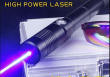 Cheapest prices High Power Blue Laser Pointers 200000mw 200w 450nm Flashlight Lazer Burning Match/Dry wood/Candle/Cigarettes+Glasses+Gift Box