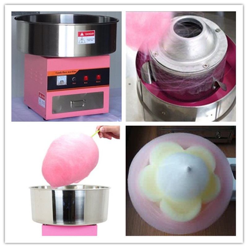 цена на Electric commercial candy floss machine sweet cotton candy maker sugar floss making machine stainless steel