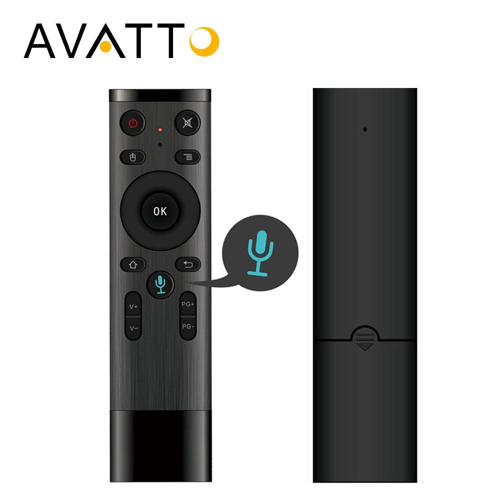 AVATTO 2,4 GHz Wireless Control de voz Air Mouse Gyro con micrófono, 3 eje giroscopio de Control remoto para Android Smart tv Box PC