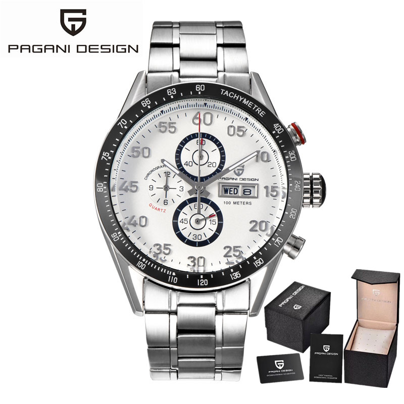 PAGANI DESIGN brand Men Watch font b Sport b font Multifunction waterproof Quartz font b Military