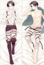 Japan Anime Attack on Titan anime Hugging Body Pillow Case Cover Levi Rivaille SM