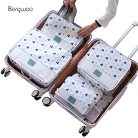 6PCS/Set Travel Accessories Kit Mesh Storage Luggage Organizer Packing Cube for Clothing Underwear Bag Wash Bag