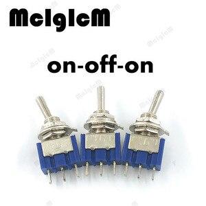 Image 2 - Mini interrupteur à bascule SPDT 125V AC/ 3a/250V, 3 broches, On Off avec écrous et plats, 10 pcs/lot