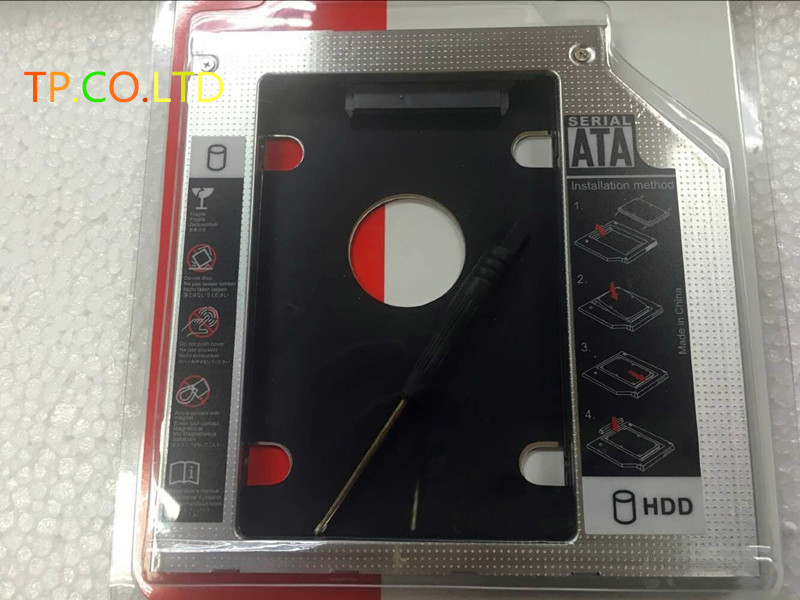 9.5MM 2nd Hard Drive SSD HDD Caddy Adapter For Lenovo IdeaPad Y400 Y500 Y510P Y510PT Swap Optical Drive