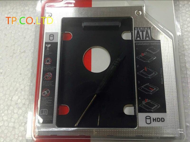 9.5mm 2nd disco rígido ssd hdd caddy adaptador para lenovo ideapad y400 y500 y510p y510pt swap unidade óptica