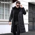 2018 winter men Long style high quality 90% white duck down jackets men,men's warm coat, classic business thicken Down jacket
