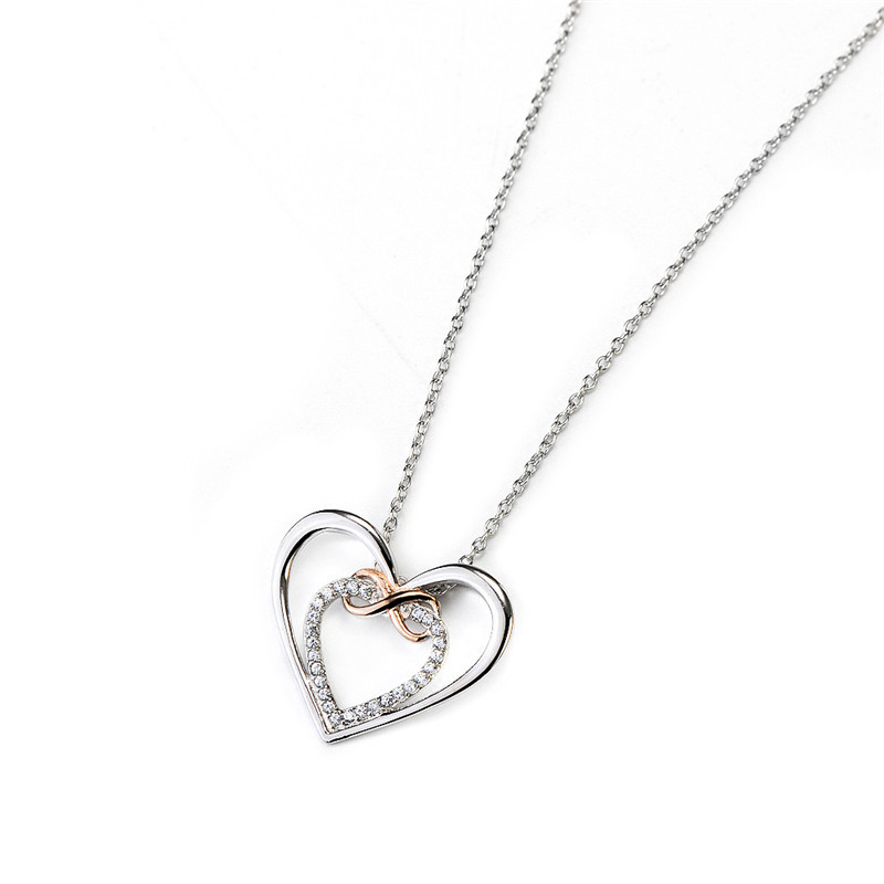 925 Sterling Silver Love Heart Pendant Necklace