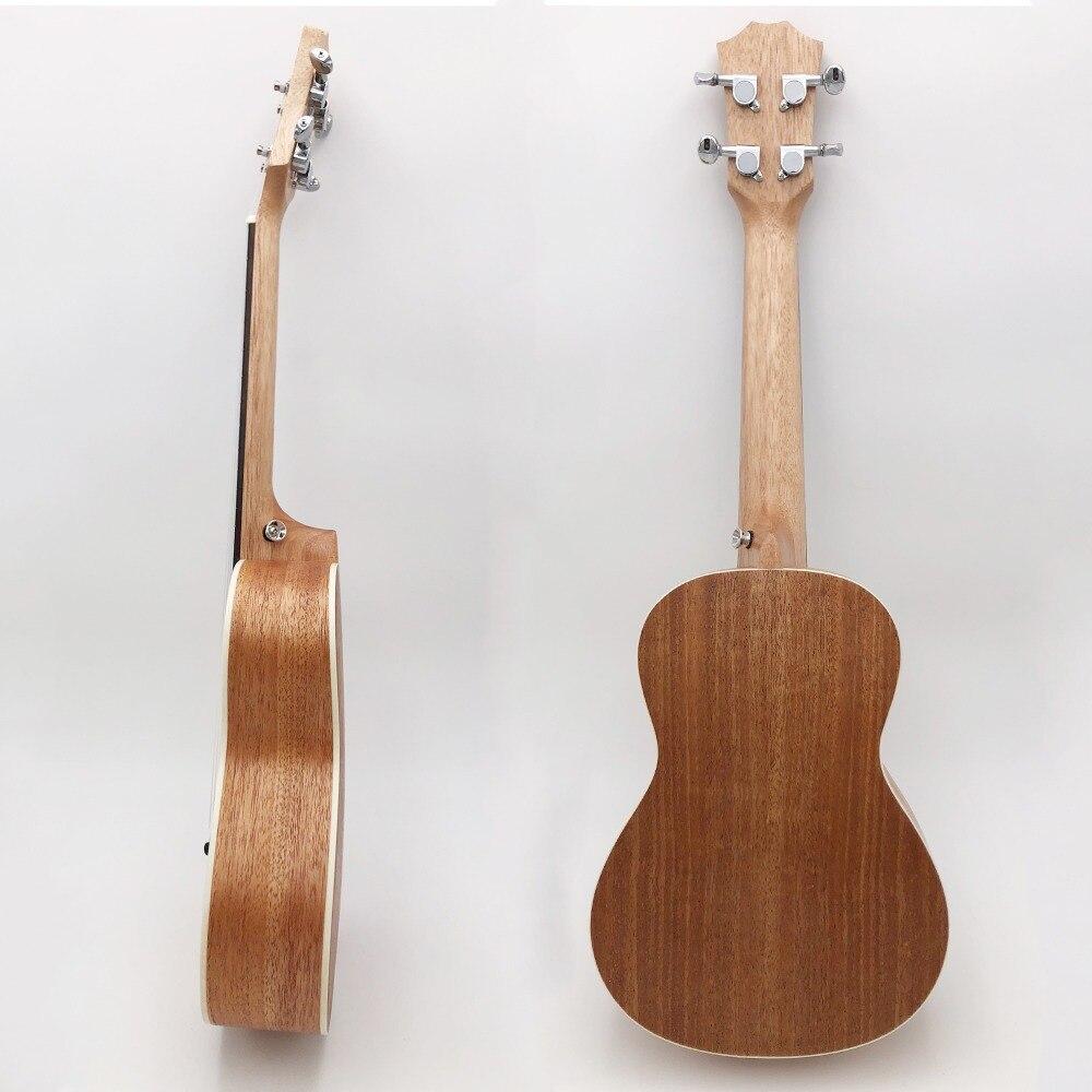 Ukulélé de Concert de 23 pouces 4 cordes en Nylon Mini guitare hawaïenne chaude musicale acoustique Ukelele épicéa bon sculpté électrique EQ UK2319 - 4
