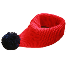 New Kids Wool Knitted Winter Scarf Boy Girl Warm Knitted Collar With Ball Children s Scarves
