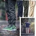 2016 Invierno Primavera Sólido hiphop joggers harem ocasional de los pantalones de color caqui de color caqui pantalones para hombre joggers pantalones patinetas hombres del swag calca