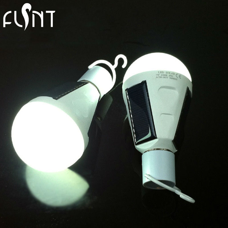 LED Energy Saving Lights Solar Power Outages Emergency Light Bulbs  Rechargeable Bulbs Outdoor Lights Camping Tents