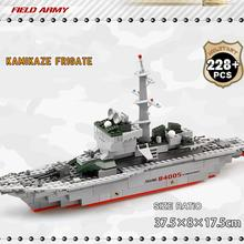 228pcs/set Cruiser Building Block Brick Army Military Ship Model Battle War Ship Navy Vessel Boat Desktop toy Children's gift цена