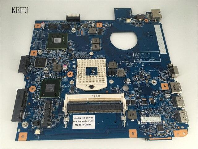 KEFU Cho Acer Aspire 4750 4750 gam 4755 gam Máy Tính Xách Tay bo mạch chủ 48.4IQ01.041 HM65 PGA989 Mainboard với đồ họa thử nghiệm tốt
