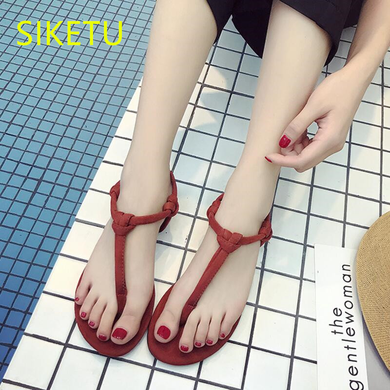 SIKETU Free shipping Summer sandals Fashion casual shoes sex women flip flop Flat Flats l100 NEW Campus Bohemia