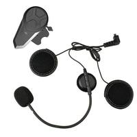 Portable Wireless FM Radio Lightweight Intercom Earphone Music Easy Operation Helmet Headset Motorcycle Bluetooth Long Standby