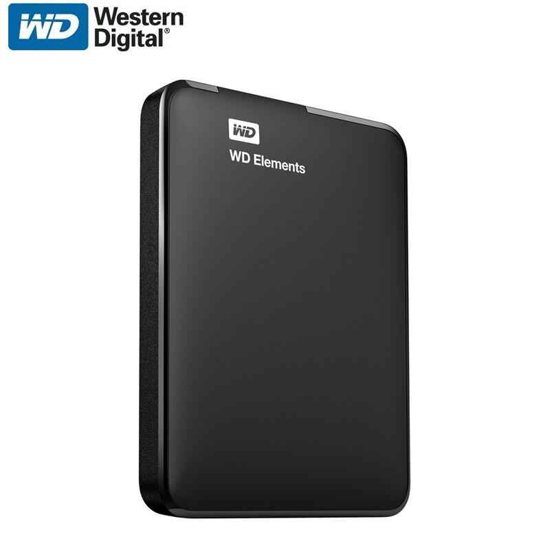 WD элементы Портативный внешний жесткий диск HD HDD 500 ГБ высокое Ёмкость SATA USB 3.0 устройства хранения оригинал для компьютер PC