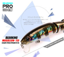 Retail Bearking 2016 hot model fishing lures hard bait 8color for choose 113mm 13.7g  minnow,quality professional minnow