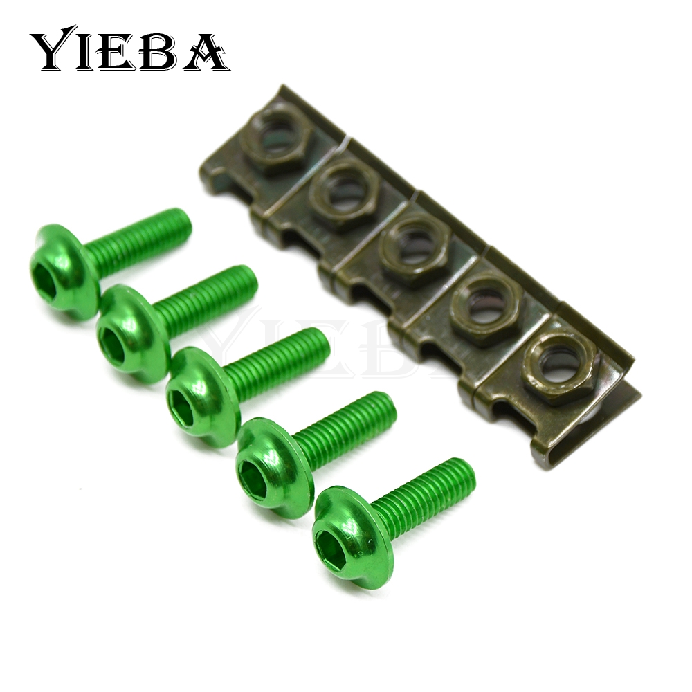 6mm Motorbike CNC Fairing body work Bolts Screws 5 pcs For YAMAHA TDM 900 TDM900 FJR 130 ...