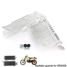 Мотоциклетный радиатор протектор Защита масляный радиатор Гриль Крышка для Suzuki DRZ400 DRZ400E DR-Z 400 400S 2000 UP DRZ400SM серебристый черный