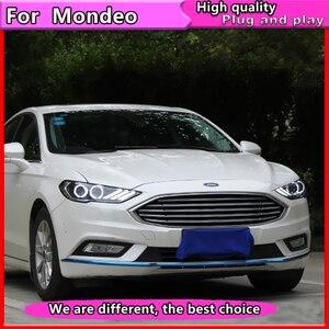 Image 2 - Style de voiture pour Ford Mondeo 2016 2018 phare LED pour nouvelle lampe frontale Fusion clignotant dynamique LED DRL bi xénon HID