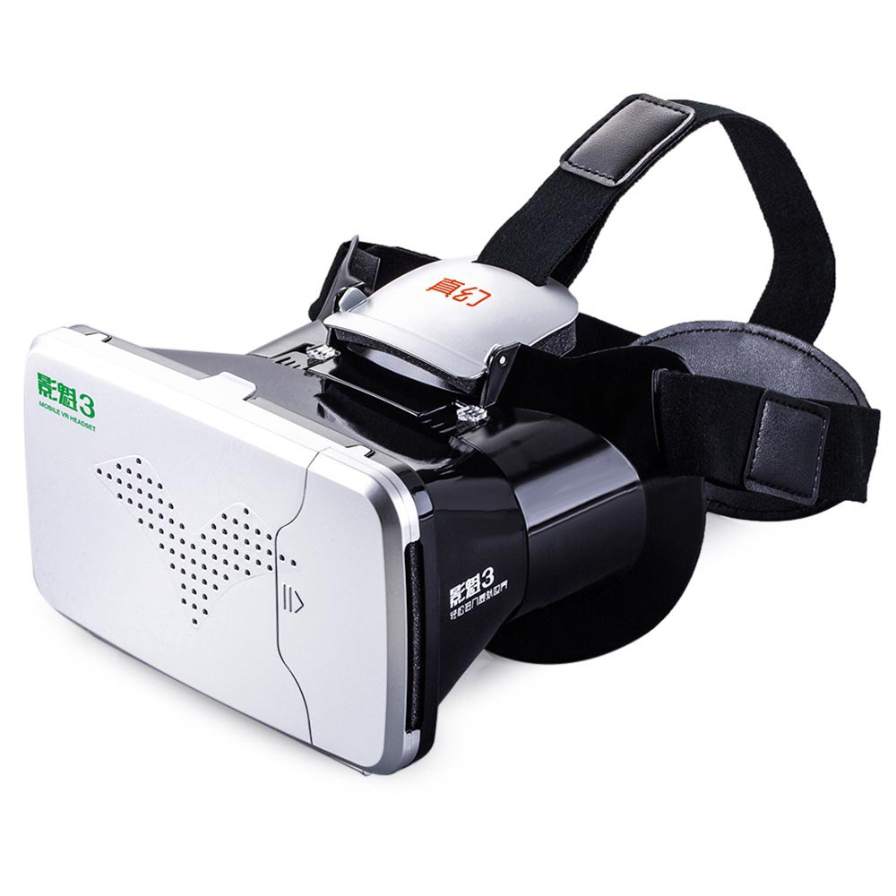 Riem III Virtual Reality 3D Head-Mounted VR Glasses 360 Viewing and Gaming VR Box Cardboard with Remote Control for iPhone 6 6S