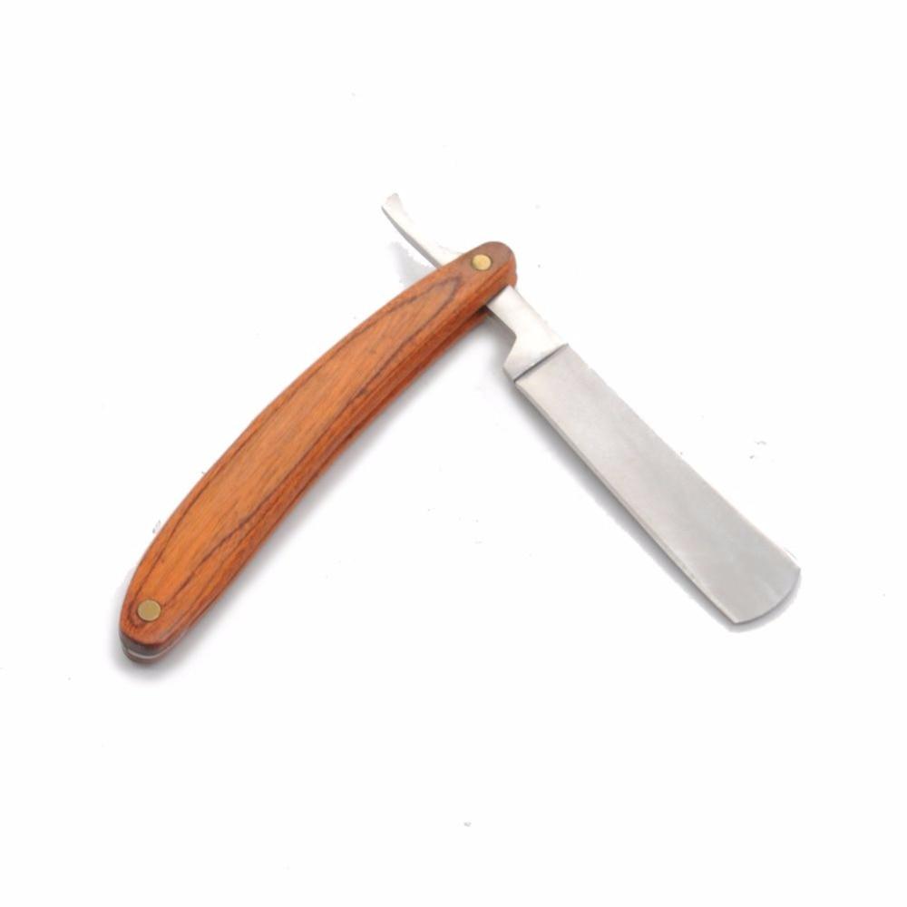 Бритвы складной бритья Ножи удаления волос Инструменты деревянной ручкой прямой край Нержавеющаясталь Парикмахерская бритья Ножи * 41