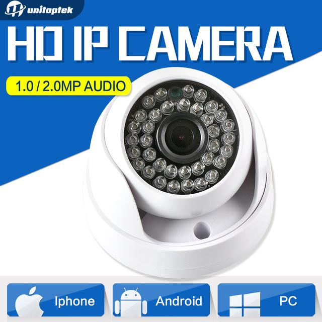 720 P 1080 P Dome HD CMOS 1MP Câmera de 2MP IP WI-FI Áudio Câmera de segurança CCTV IR Opcional 20 m 3.6mm Lens IR-Cut para Uso Interno Onvif