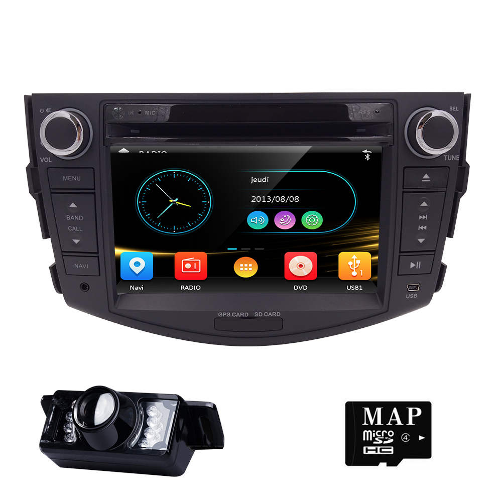 Crazy Sale Free Camera 2 Din Car Stereo Car GPS Navigation for Toyota RAV4 2006-2012 Bluetooth SWC USB SD ATV Touch Screen
