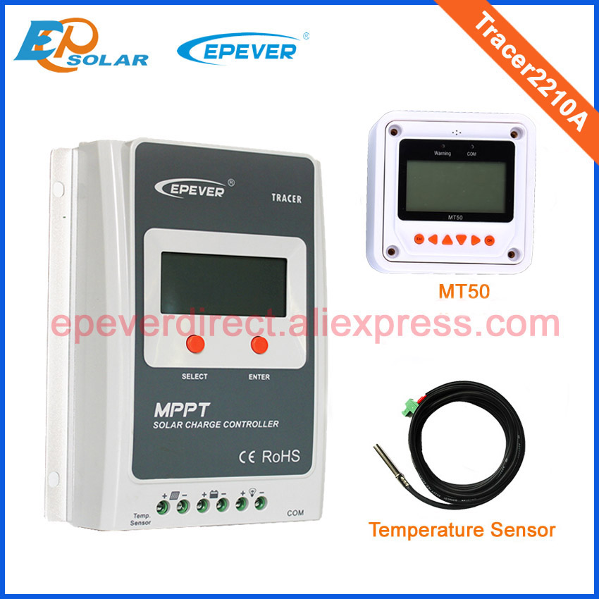 12v 24v Tracer2210A 20A 20amp with temperature sensor micro solar portable controller white MT50 remote meter free shipping 20a solar power bank charging controller tracer2215bn temperature sensor and bluetooth function 20amp 12v 24v auto work