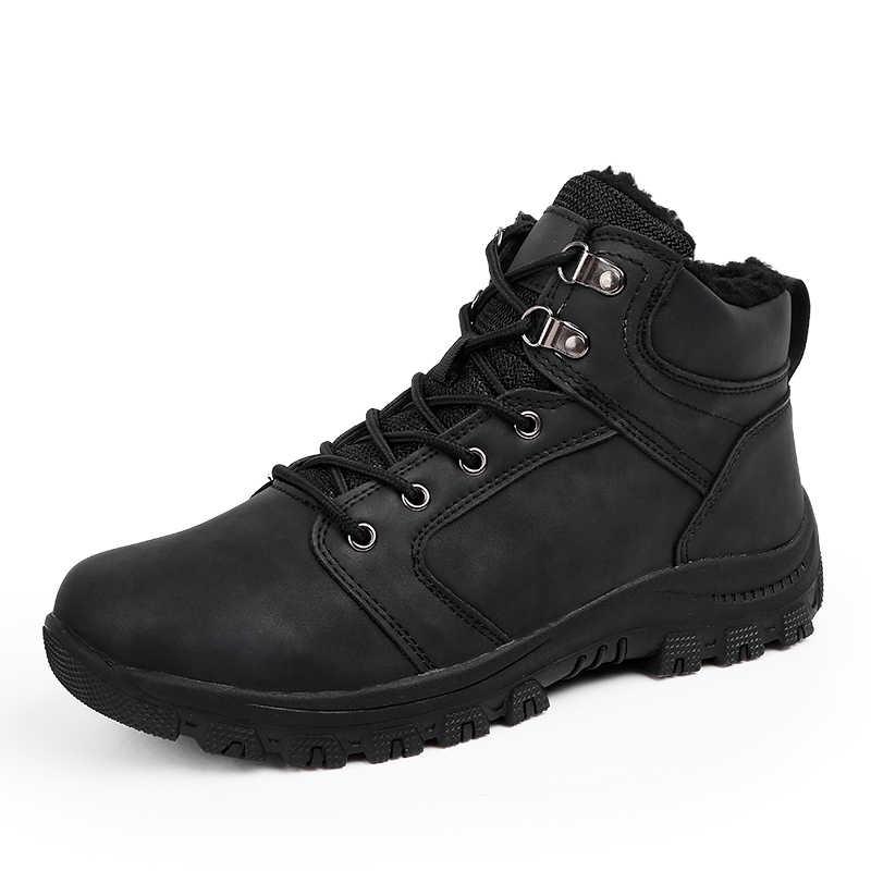 17131744c ... VMUKSAN/Новые Брендовые мужские ботинки, большие размеры 39-46, теплые  зимние ботинки ...