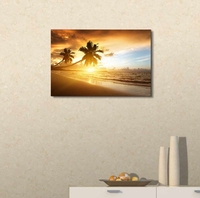Sea Wave Seascape Single Pictures Wall Art for Dining Room Kitchen Wall Decor Dolphin Animals Sunset Coconut Tree Poster Printed