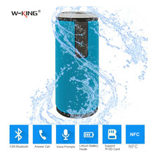 W-King Wireless Bluetooth Mini Outdoor Portable NFC CSR DSP 2000mA Waterproof Super Bass Dual Channel Stereo for Xiaomi iPhone