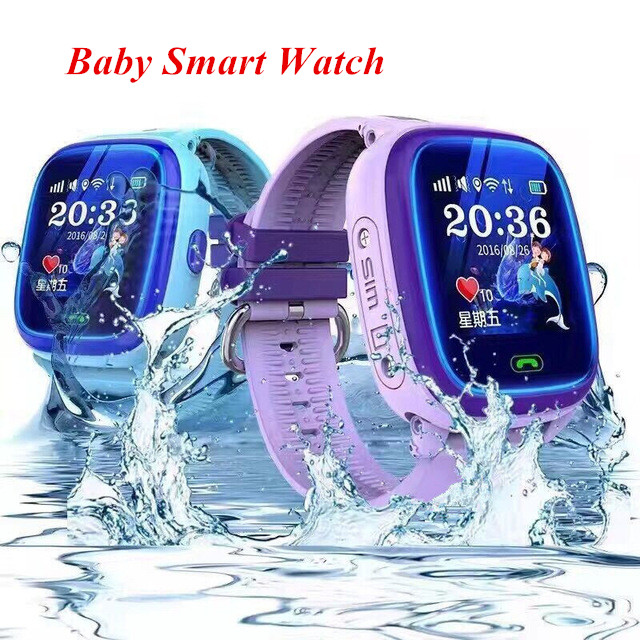 Originale GW400S DF25 Smart Vigilanza Del Bambino di Nuotata Impermeabile PK Q100 Bambini GPS Orologio Inseguitore di Posizione di Tocco Dello Schermo Russo Inglese