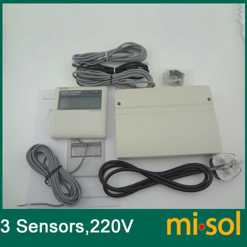 CONTROLLER of SOLAR WATER HEATER 220V 3 temperature sensors