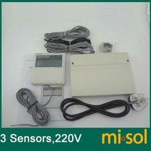 Контроллер солнечного водонагревателя, 220 В, 3 датчика температуры