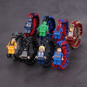 Image 2 - Toy story 4 woody buzz lightyear pulseira, vingadores, endgame, homem de ferro, siderman, pulseira, blocos de construção, actiefiguren kinderen, presente