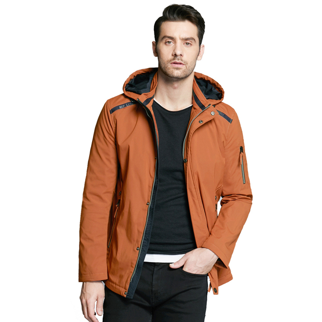 ICEbear 2019 Casual Autumn Business Men's Jacket Short Overcoat Hoodie Tops Man Coat Fall Fashion Brand Men Coats MWC18040D