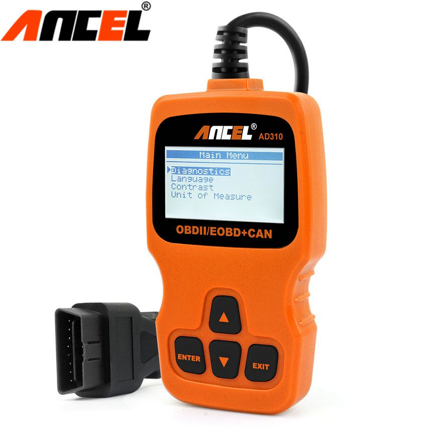 OBD2 Scanner Ancel AD310 ODB2 Car Diagnostic Scanner OBD 2 Code Reader For Car Diagnostic OBDll Tool OBD Auto Diagnostic Scanner u280 1 5 lcd vw audi car diagnostic code reader memo scanner