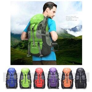 Image 2 - Darmowy rycerz 50L plecak wodoodporny do wędrówek Trekking plecak podróżny dla mężczyzn kobiety torba sportowa terenowa torba wspinaczkowa 5 kolorów