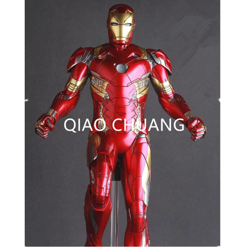 Crazy Toys The Avengers Iron Man MARK XLVI MK 46 1/6 Scale PVC Figure Collectible Model Toy 31CM Creative Anime RETAIL BOX G100 hot toys hottoys ht mms209 1 6 iron man model tony stark the mechanic collectible figure specification new box in stock