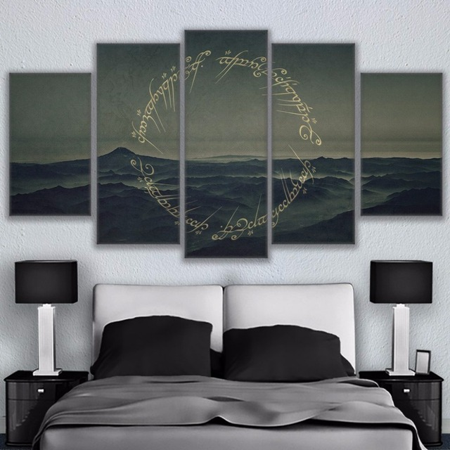 Home Decor Paintings On Canvas Wall Modular 5 Panel Movie Lord Of The Rings  Theme Pictures