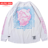 Aelfric Eden Line Pattern 3d Print T shirts Men Autumn Winter Long Sleeve Pullover Casual Tees Shirts Harajuku Streetwear KJ18