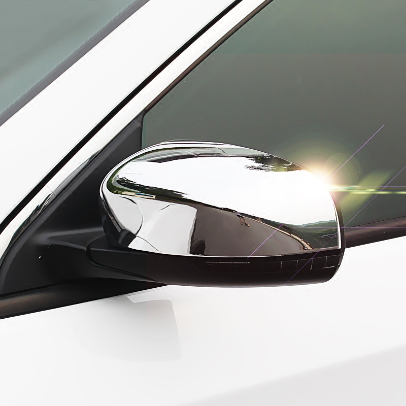 For Jeep Compass 2017 2018 Chrome Rear View Side Door Mirror Pillar Trim Cover