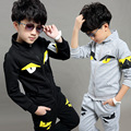 Spring Autumn Children Clothing Set Boys Girls Sport Hoodie Monster Sweater Suit 3 pcs Tracksuit Clothes 4-15Years Kids Clothes