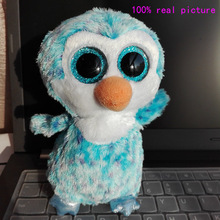 In Stock Original Ty Beanie Boos Big Eyed Stuffed Animal ICE CUBE - the penguin Plush Doll Kids Toy 6''  Birthday Gift