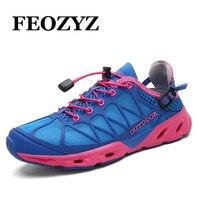 FEOZYZ 2017 Water Shoes Men Women Aqua Shoes Quick Drying Outdoor Beach Shoes Womens Mens Sport