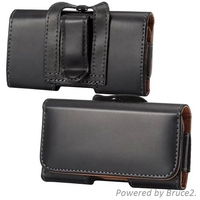 For Alcatel One Touch Scribe Easy Belt Clip Loop Hip Holster Leather Flip Pouch Case Cover
