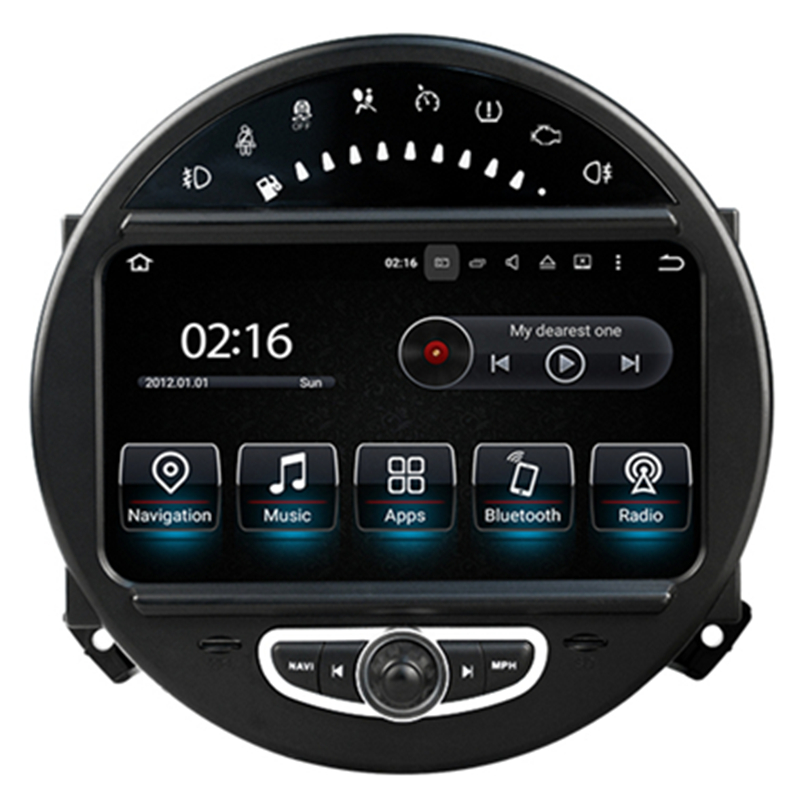 7 android autoradio headunit car stereo head unit car multimedia gps for mini cooper 2006 2007. Black Bedroom Furniture Sets. Home Design Ideas